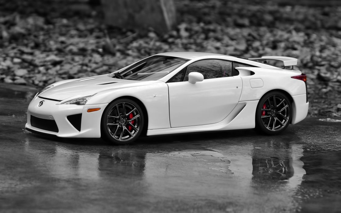 Cars vehicles lexus lfa selective coloring white cars wallpaper