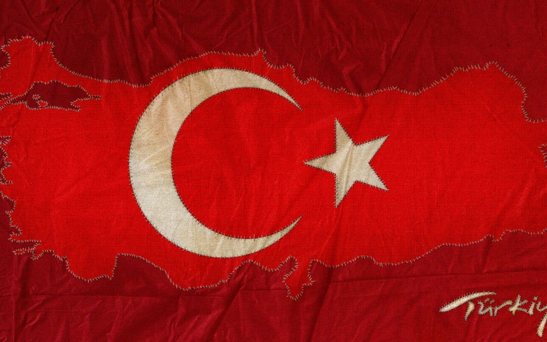 Red flags turkey maps turkish wallpaper
