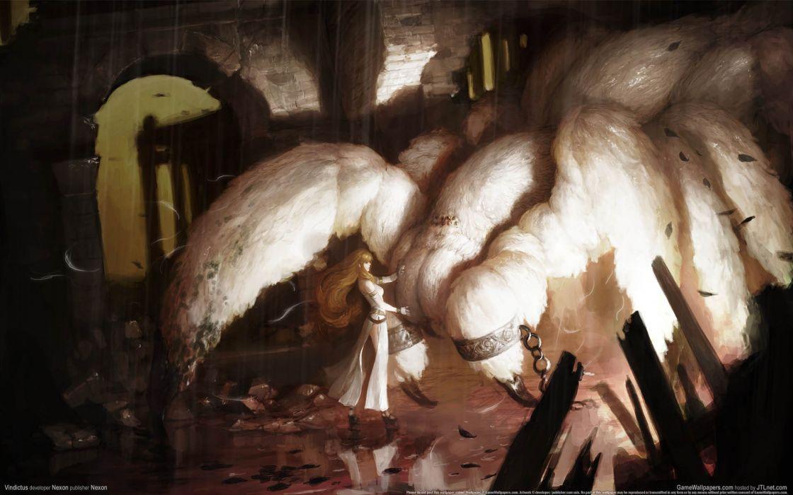 Women fantasy video games vindictus artwork spiders chains wallpaper