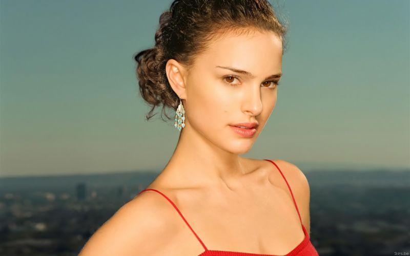Brunettes women actress natalie portman celebrity faces wallpaper