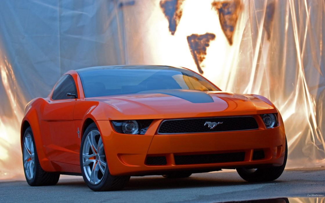 Cars orange vehicles ford mustang giugiaro wallpaper