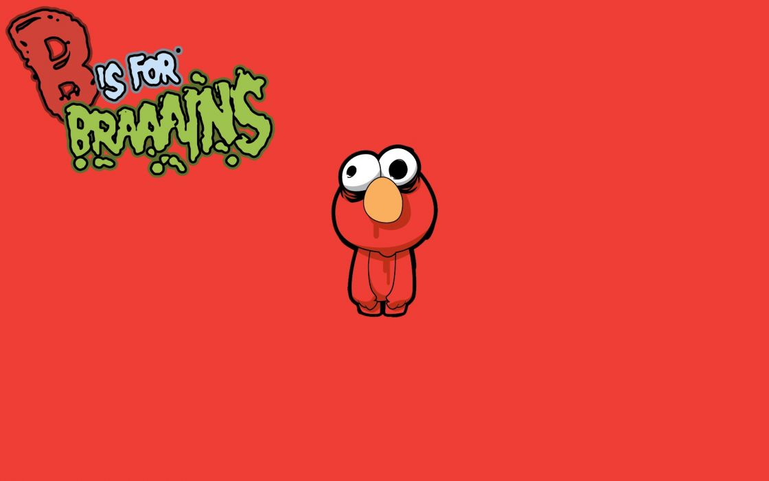 Tv cartoons zombies brain sesame street elmo wallpaper