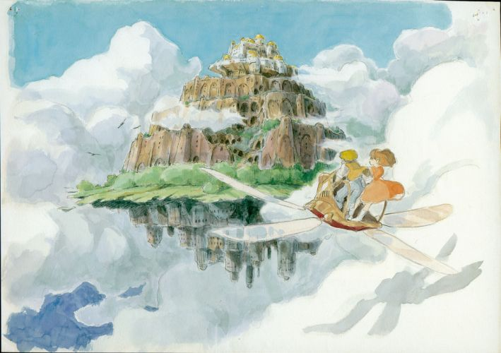 Pazu studio ghibli laputa castle in the sky sheeta wallpaper