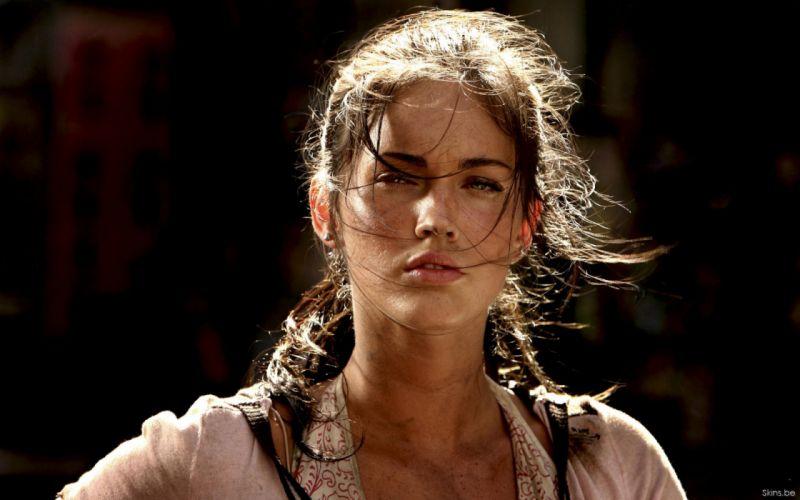Brunettes women transformers movies megan fox actress celebrity wallpaper