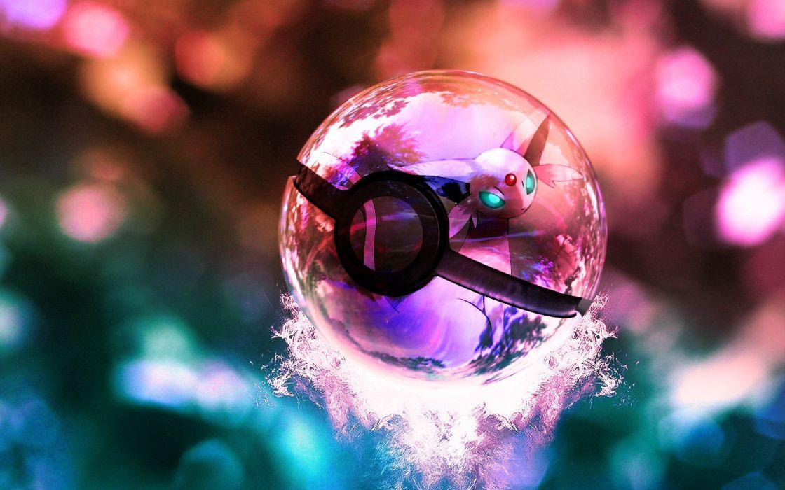 Pokemon poke balls 3d wallpaper
