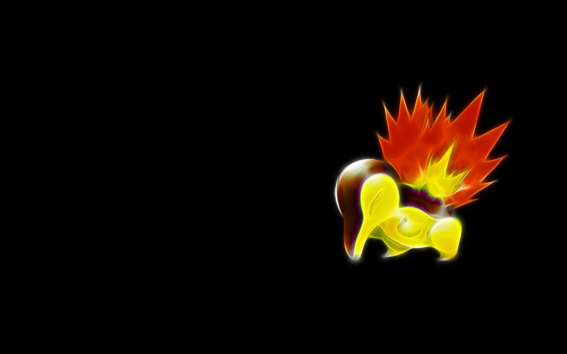 Pokemon simple background cyndaquil black background wallpaper