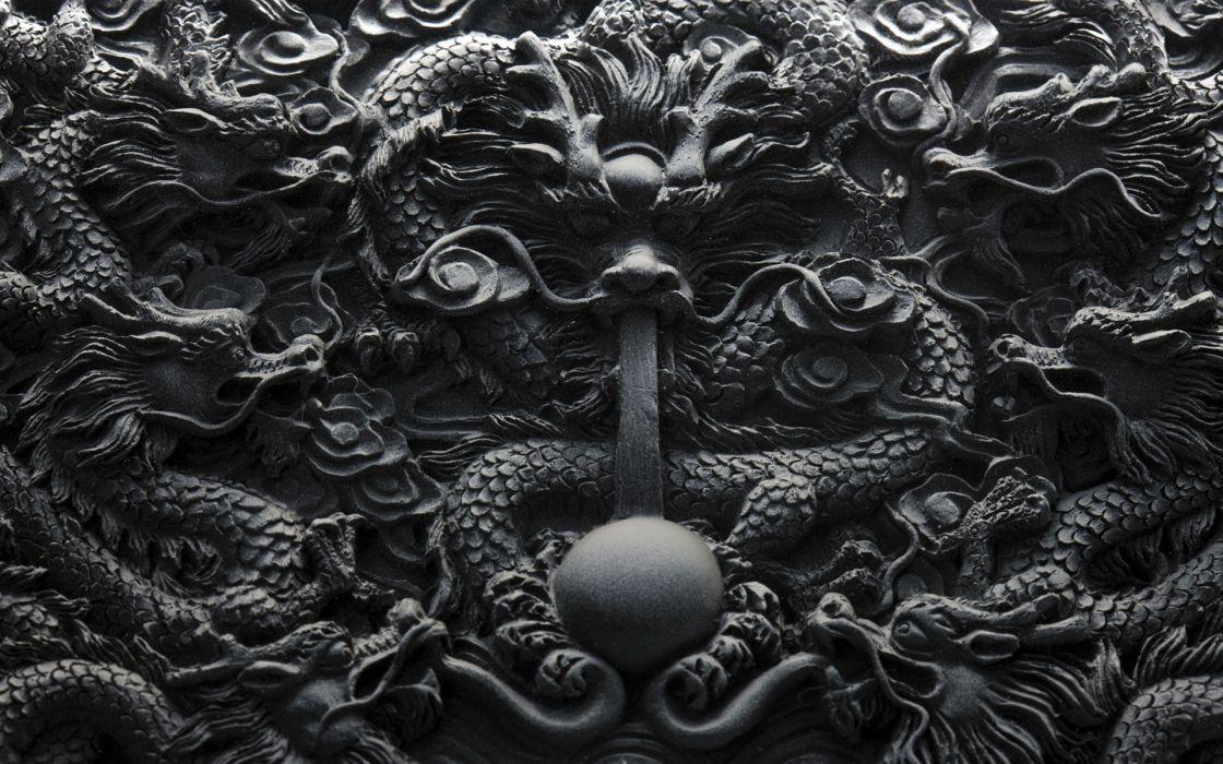 Dragons ornaments wallpaper