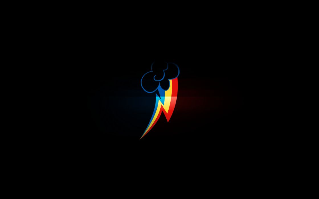 Black minimalistic dark my little pony rainbow dash my little pony friendship is magic wallpaper