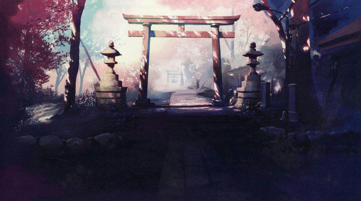 Japanese memories shrine makoto shinkai 5 centimeters per second anime japanese architecture wallpaper