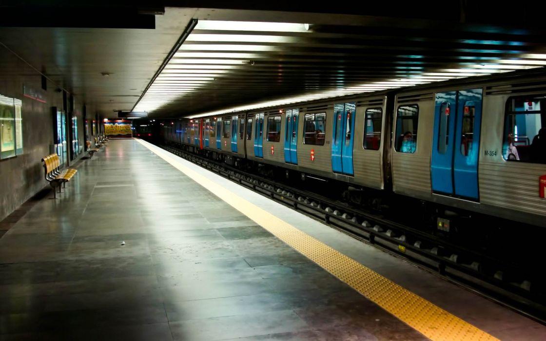 Station trains subway wallpaper