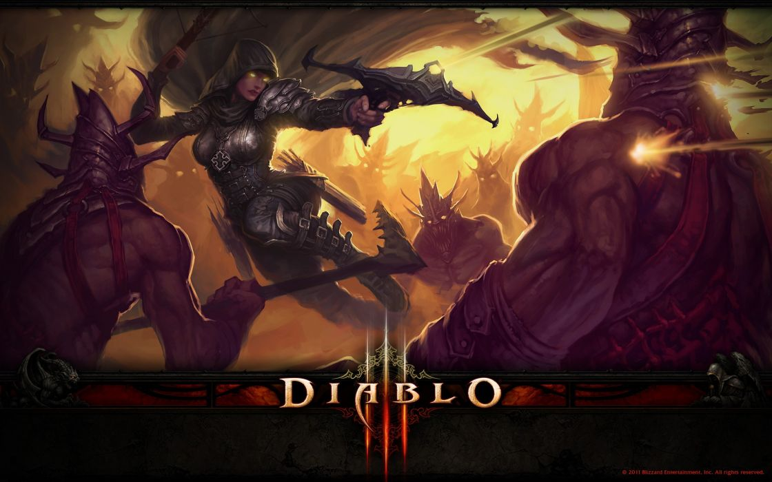 Demon hunter blizzard entertainment diablo iii wallpaper