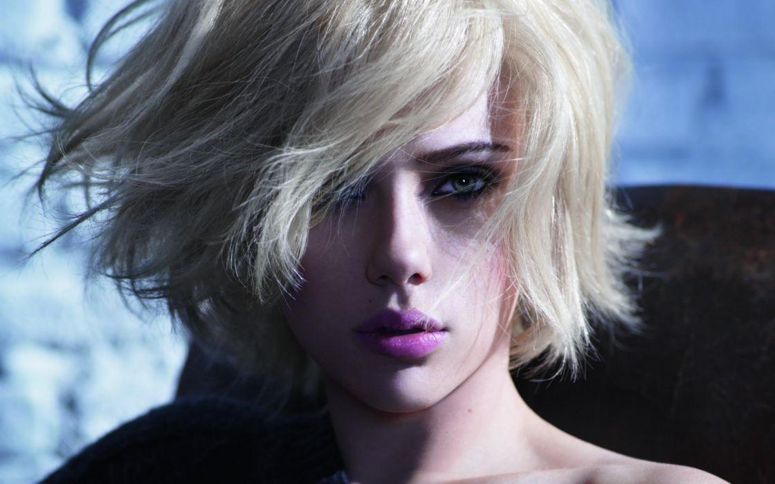Blondes women scarlett johansson actress faces wallpaper