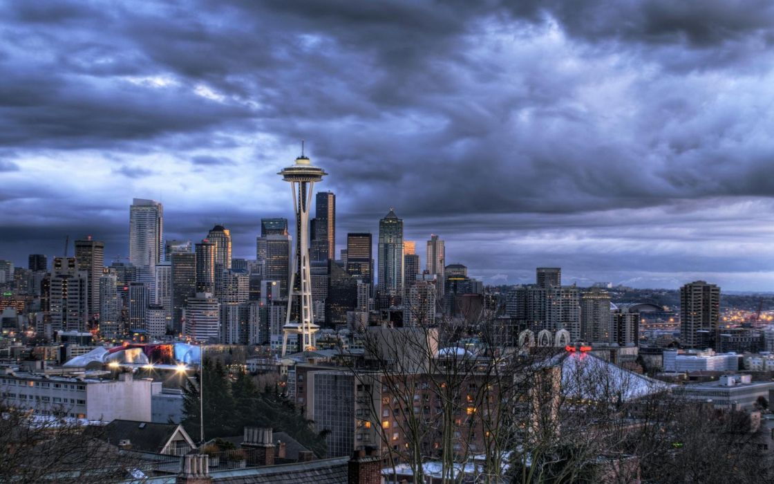 Cityscapes architecture seattle buildings wallpaper