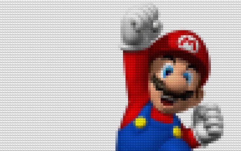 Lego mario super mario wallpaper