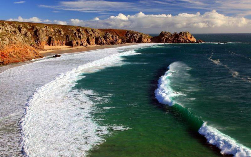 Ocean beach wallpaper