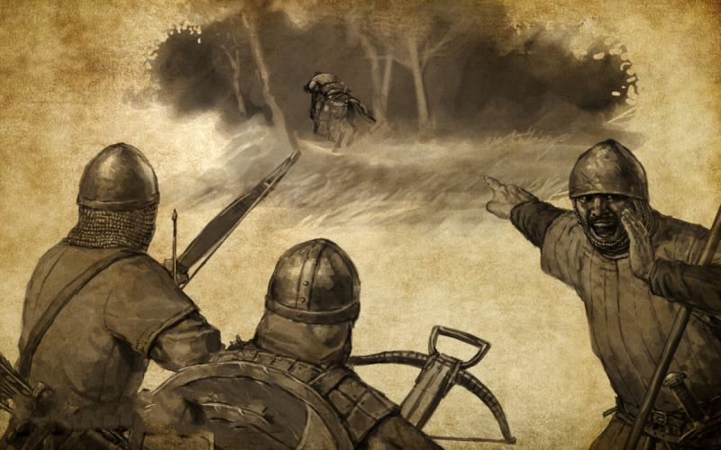 Soldiers archers mount&blade artwork medieval wallpaper