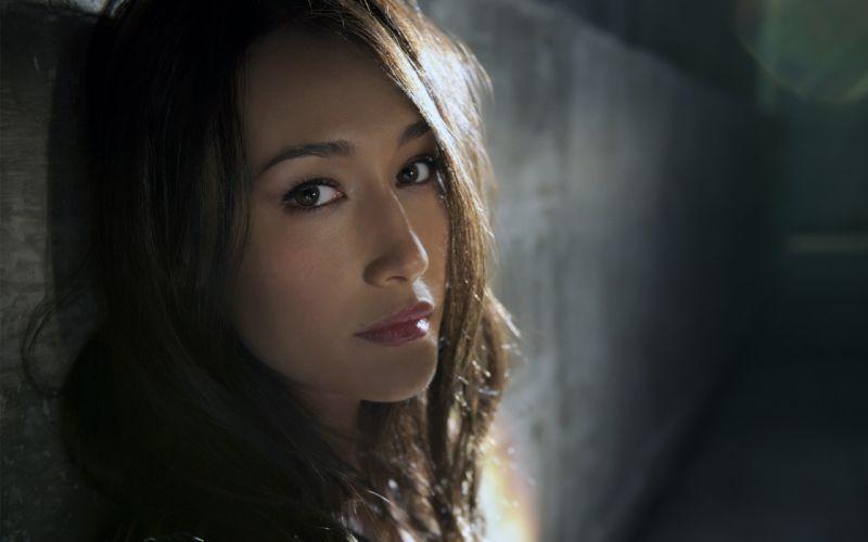 Brunettes women actress asians maggie q faces wallpaper