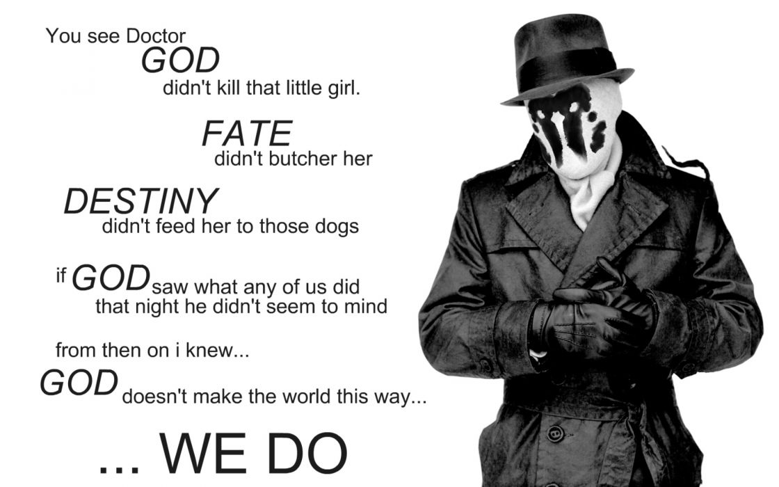 Watchmen quotes rorschach grayscale monochrome wallpaper