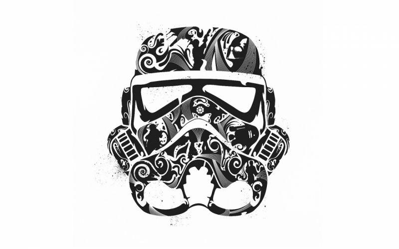 Star wars minimalistic stormtroopers artwork wallpaper