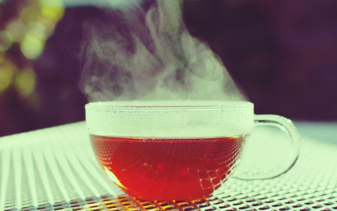 Tea glass summer wallpaper