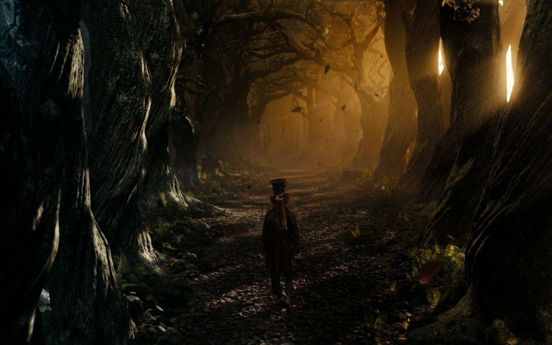 Forest alice in wonderland mad hatter wallpaper