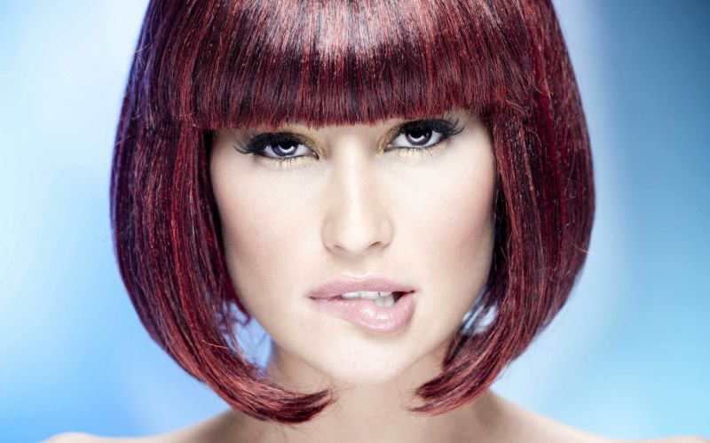 Brunettes women redheads faces wallpaper
