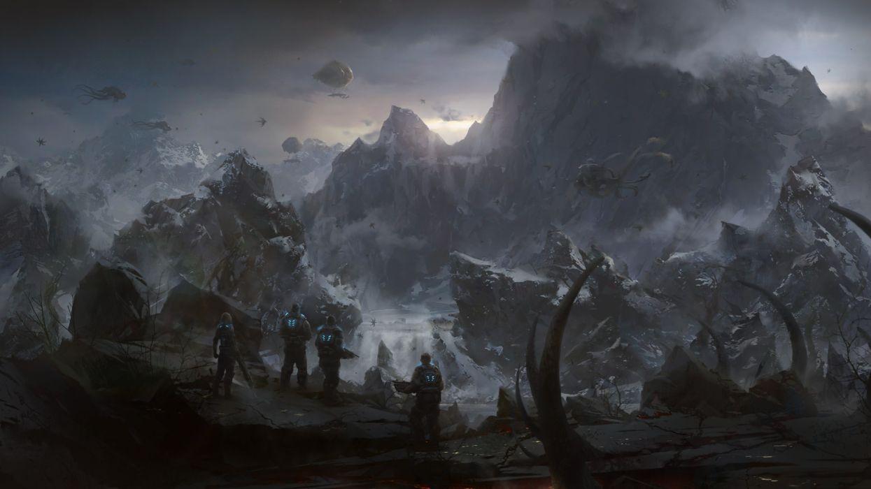 Video games futuristic artwork gear of war 3 wallpaper