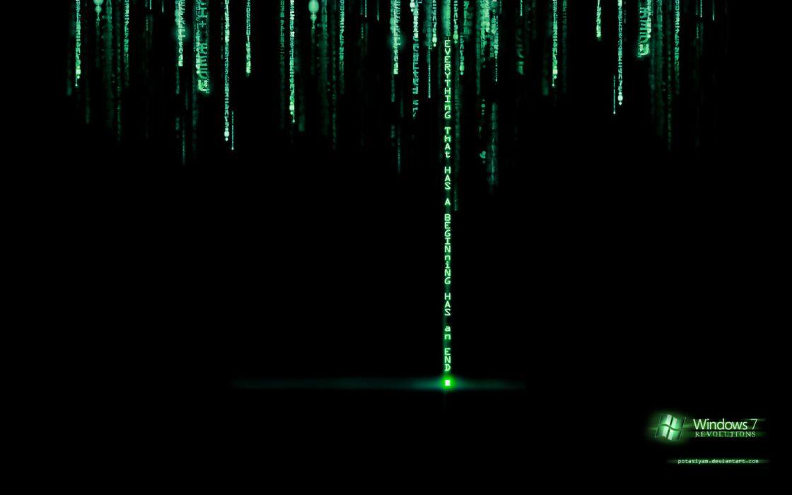 Windows 7 matrix wallpaper