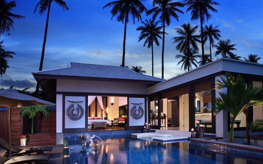 Villa interior designs wallpaper