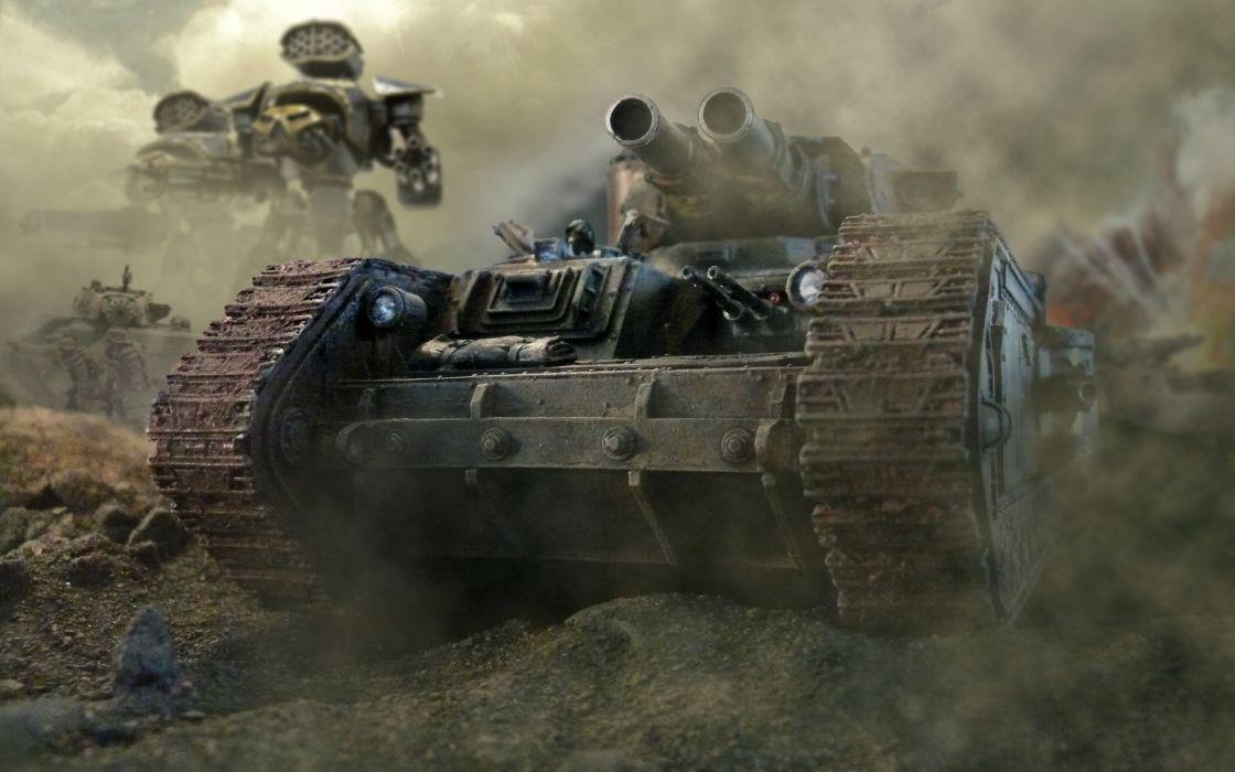 War warhammer warhammer 40k chaos space marines titan tanks terran tabletop orks last stand waagh wallpaper
