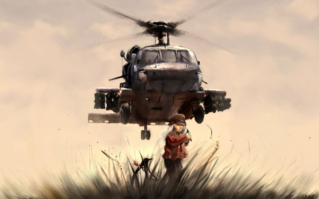 Women black guns helicopters hawk vehicles wallpaper