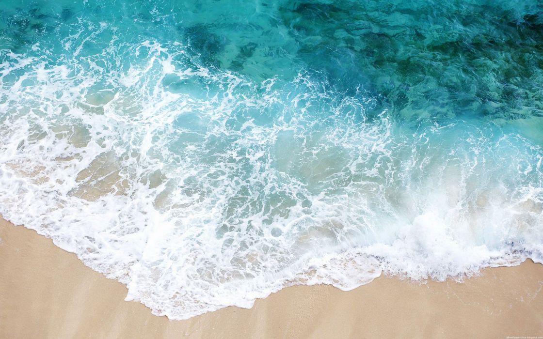 Water beach sand shore wallpaper