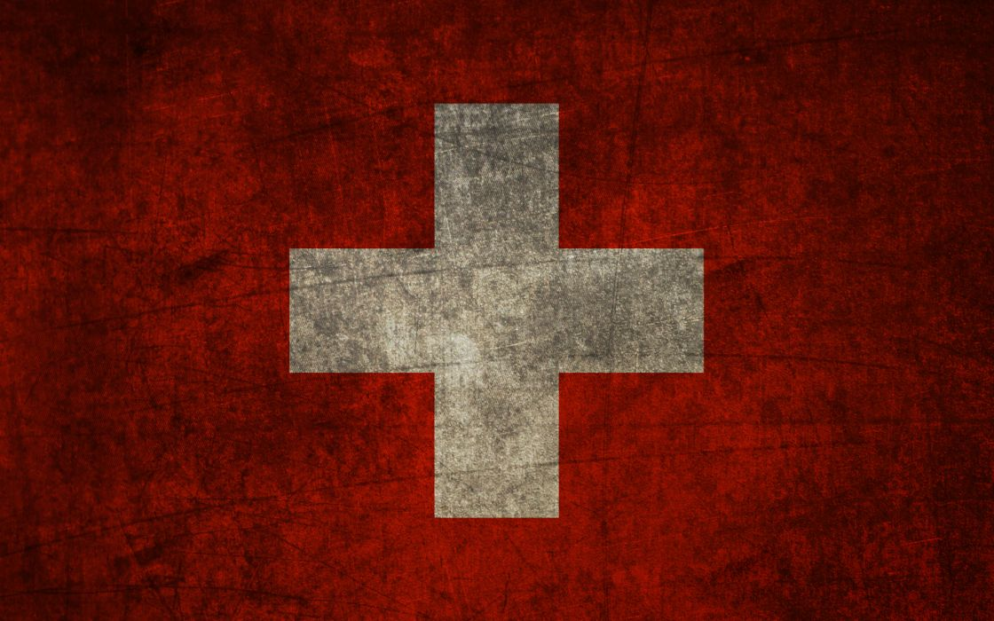Cross grunge flags switzerland wallpaper