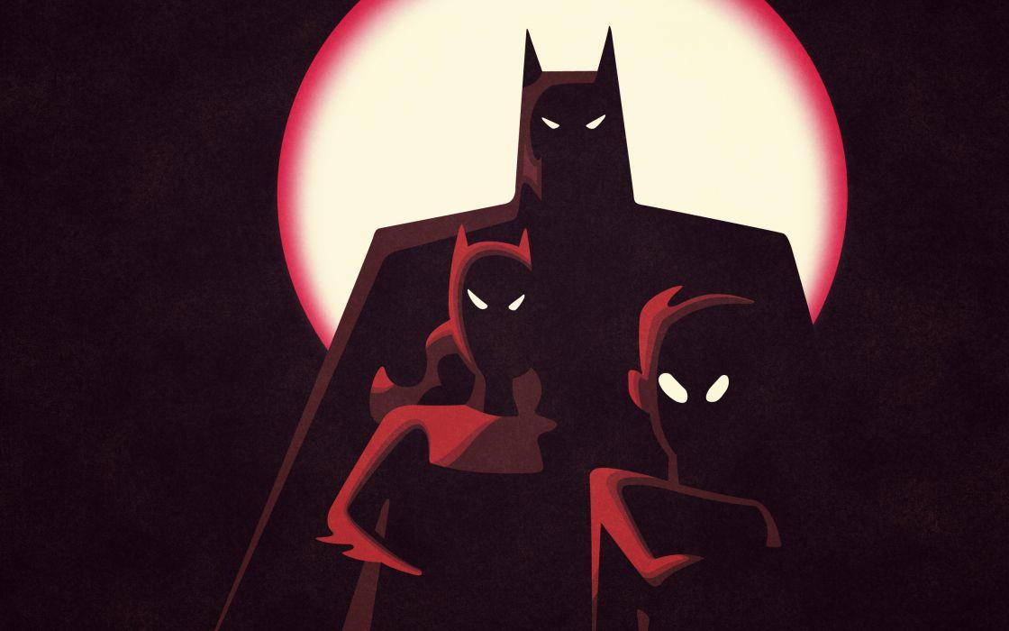 Batman robin batgirl wallpaper