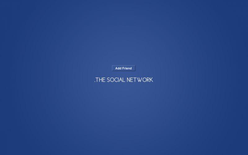 Minimalistic facebook movies the social network wallpaper