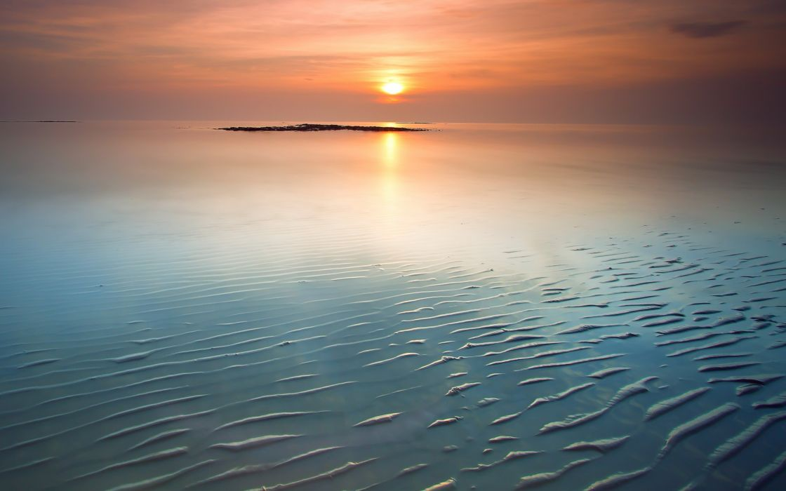 Water sun sea sunlight wallpaper