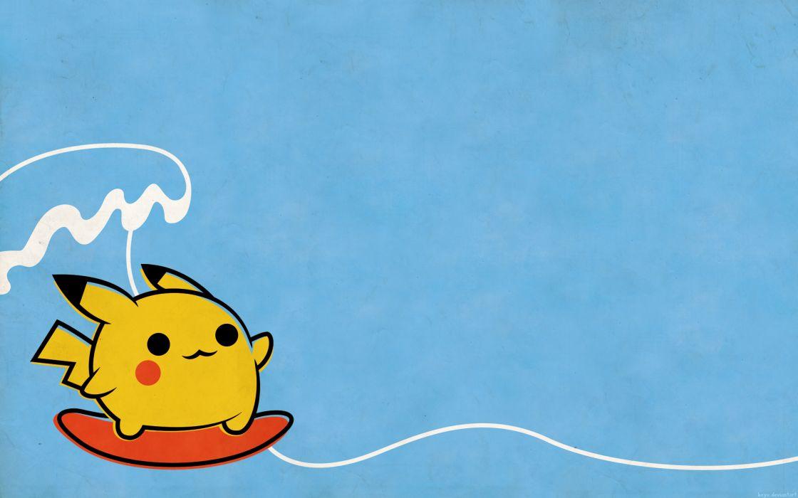 Pokemon pikachu surfing wallpaper