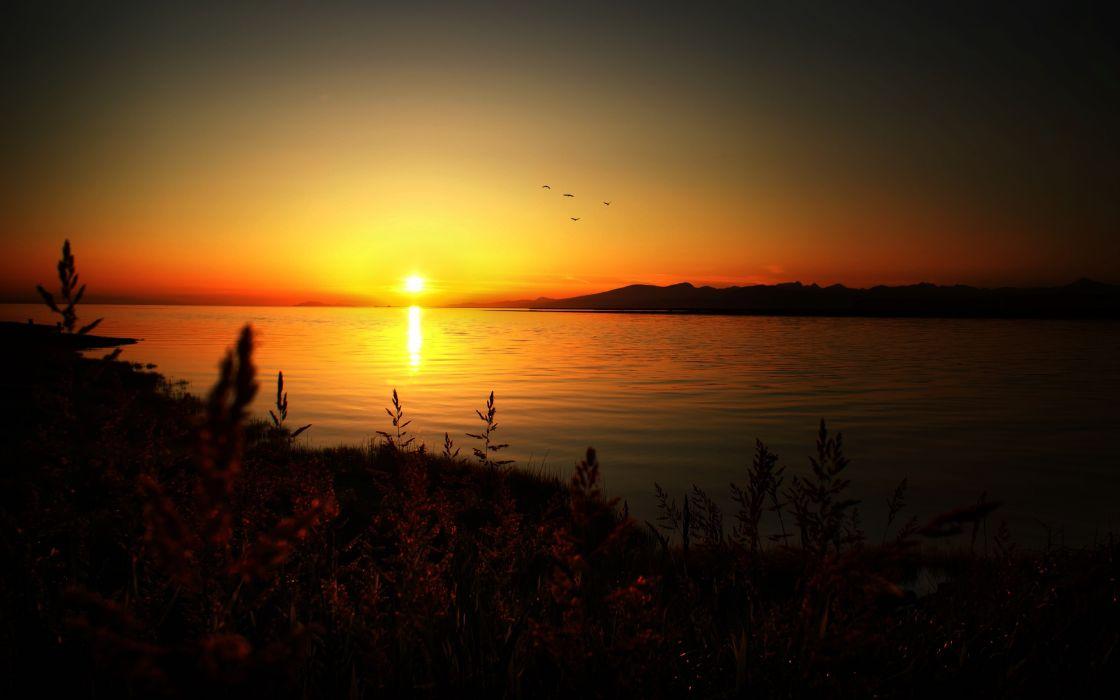 Sunset landscapes nature summer wallpaper