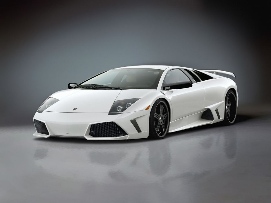 White cars vehicles supercars lamborghini murcielago premier4509 wallpaper