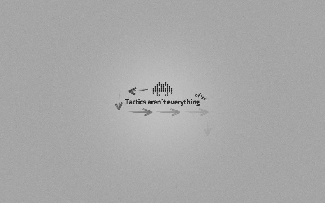 Minimalistic tactics space invader games wallpaper