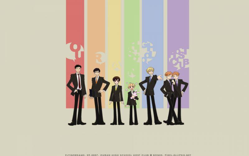 Ouran high school host club rainbows wallpaper