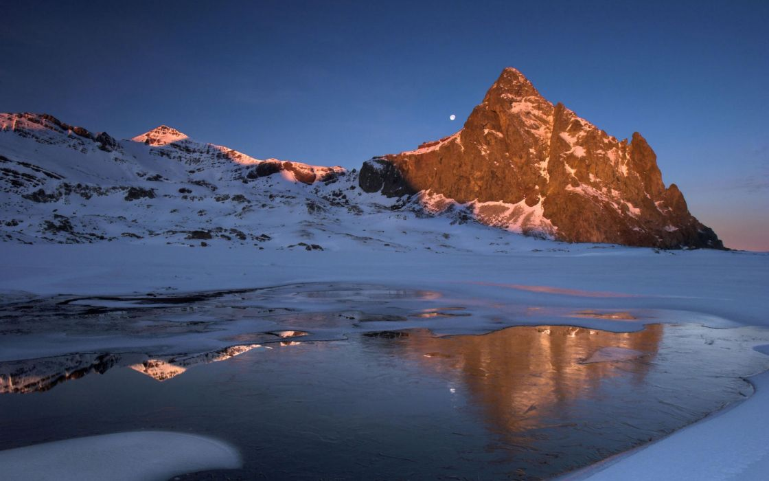 Mountains landscapes winter wallpaper