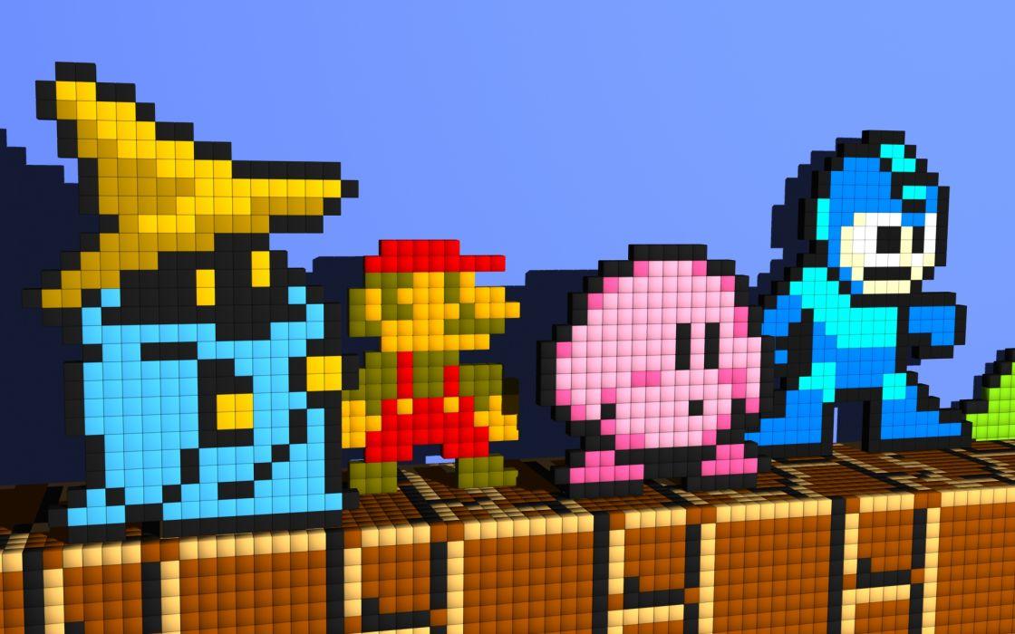 Kirby mario mega man vivi (final fantasy ix) wallpaper
