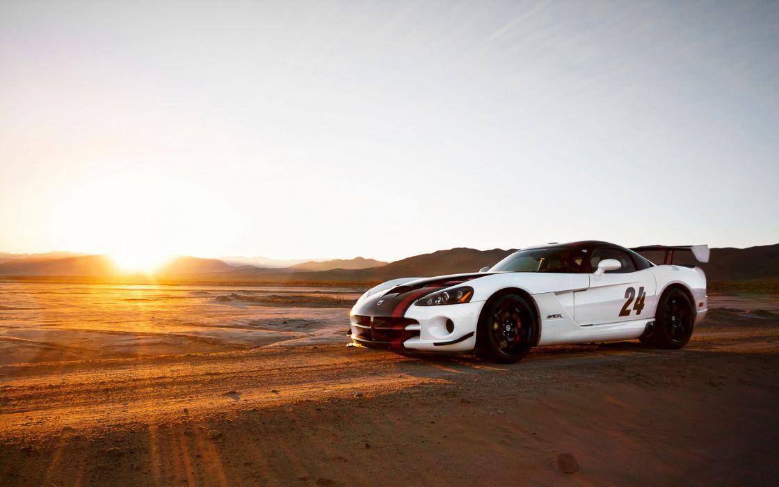 Sun sand cars desert vehicles dodge viper dodge viper srt-10 acr wallpaper