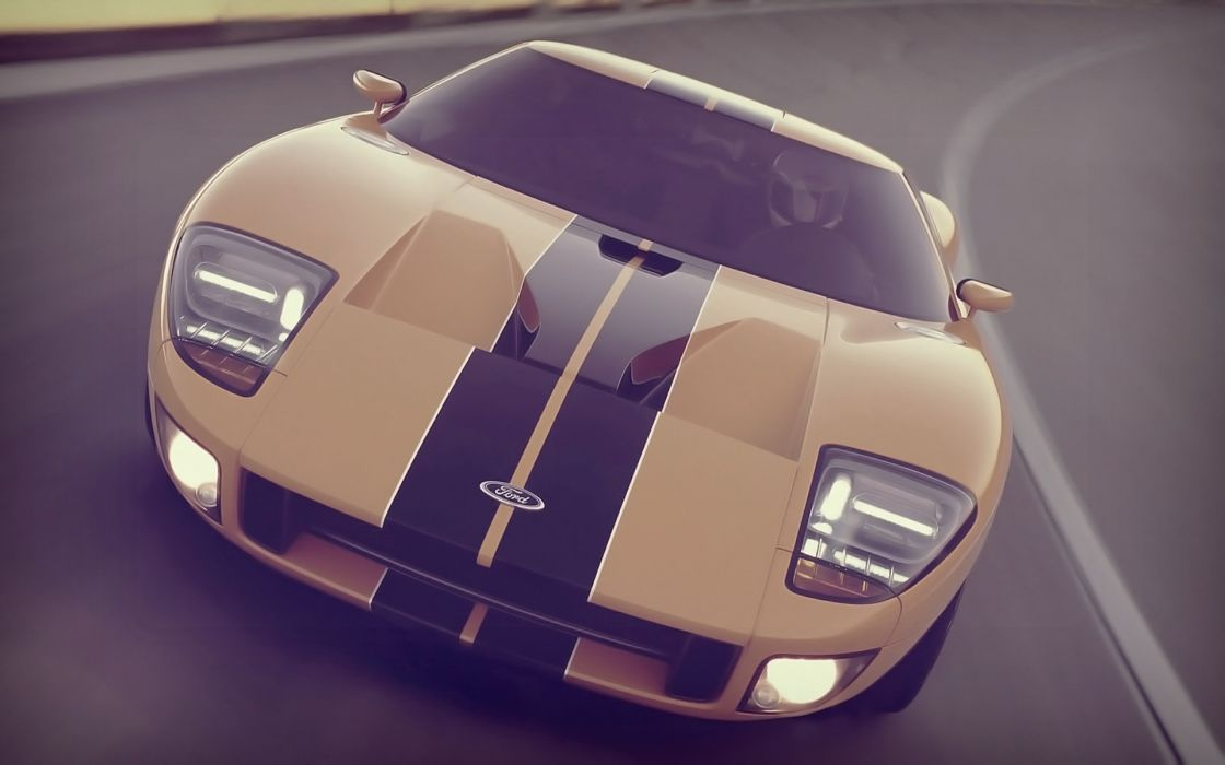 Vintage cars concept ford gt wallpaper