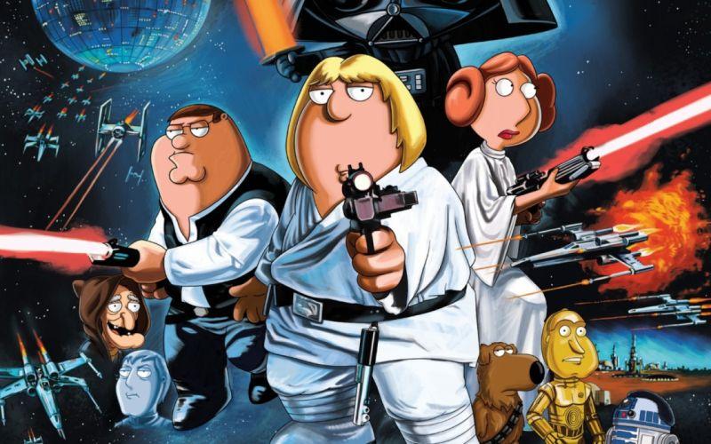 Cartoons star wars family guy parody wallpaper