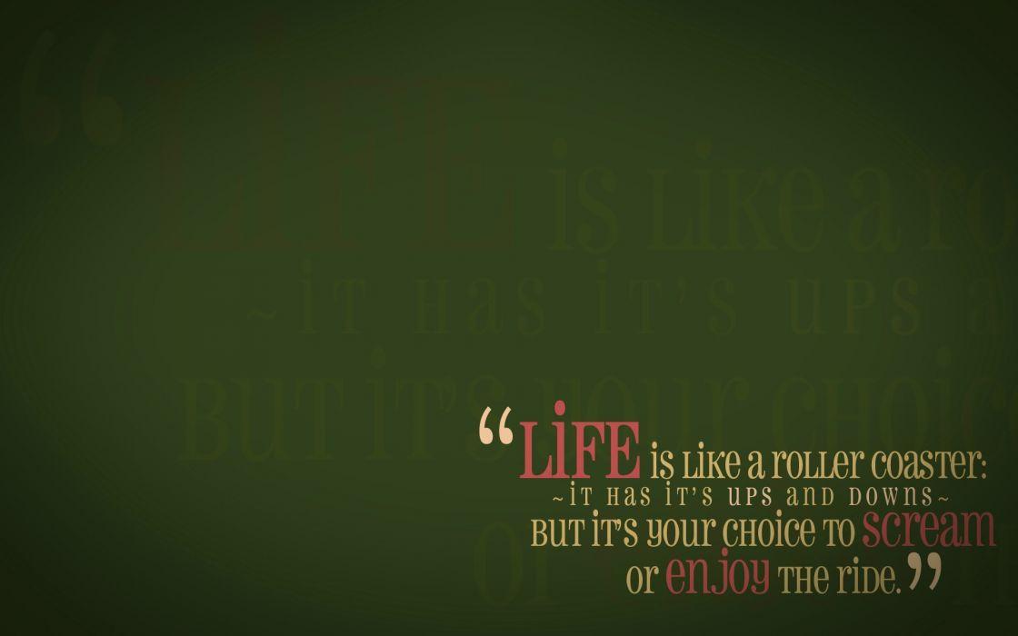 Green quotes life enjoy wallpaper
