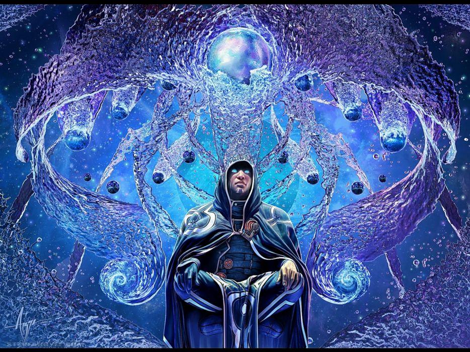 Magic the gathering fantasy art jace beleren steve argyle wallpaper