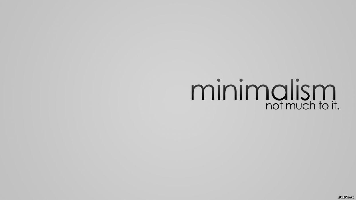 Minimalistic text typography wallpaper