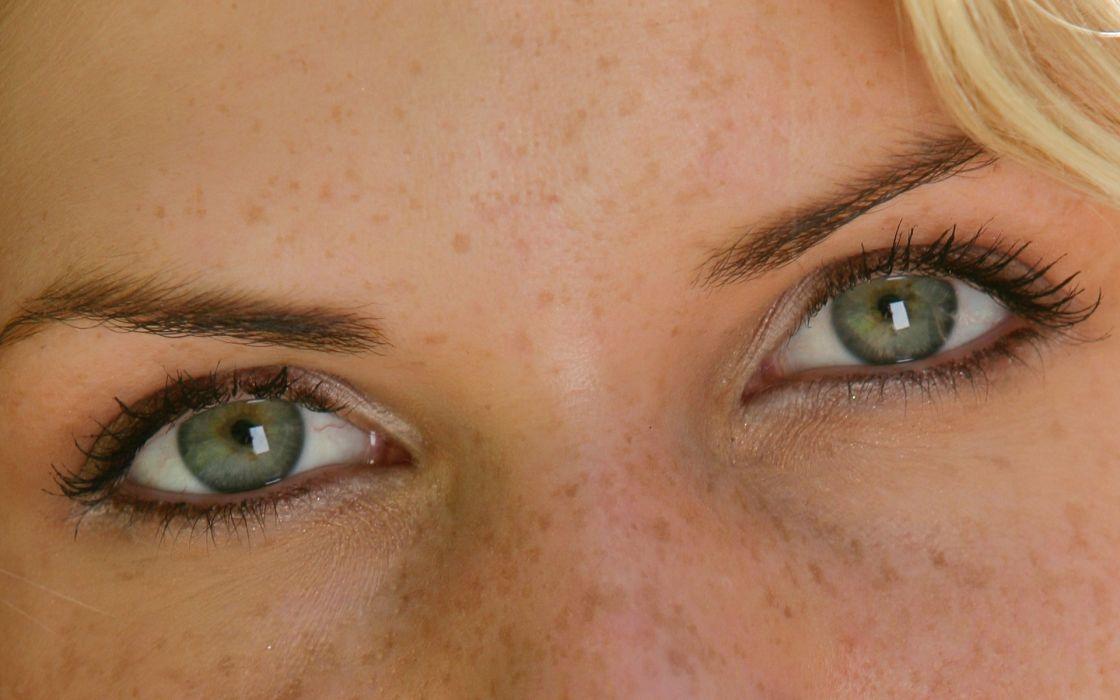 Close-up eyes green eyes iveta vale wallpaper